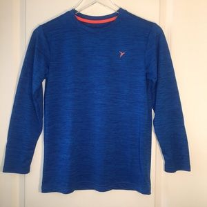 Old Navy Kids Active Go-Dry Long Sleeve Blue. L